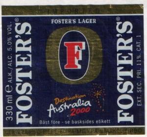 Foster's Destination Australia 2000