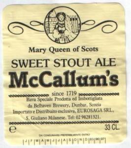 Mc Callum's Sweet Stout Ale